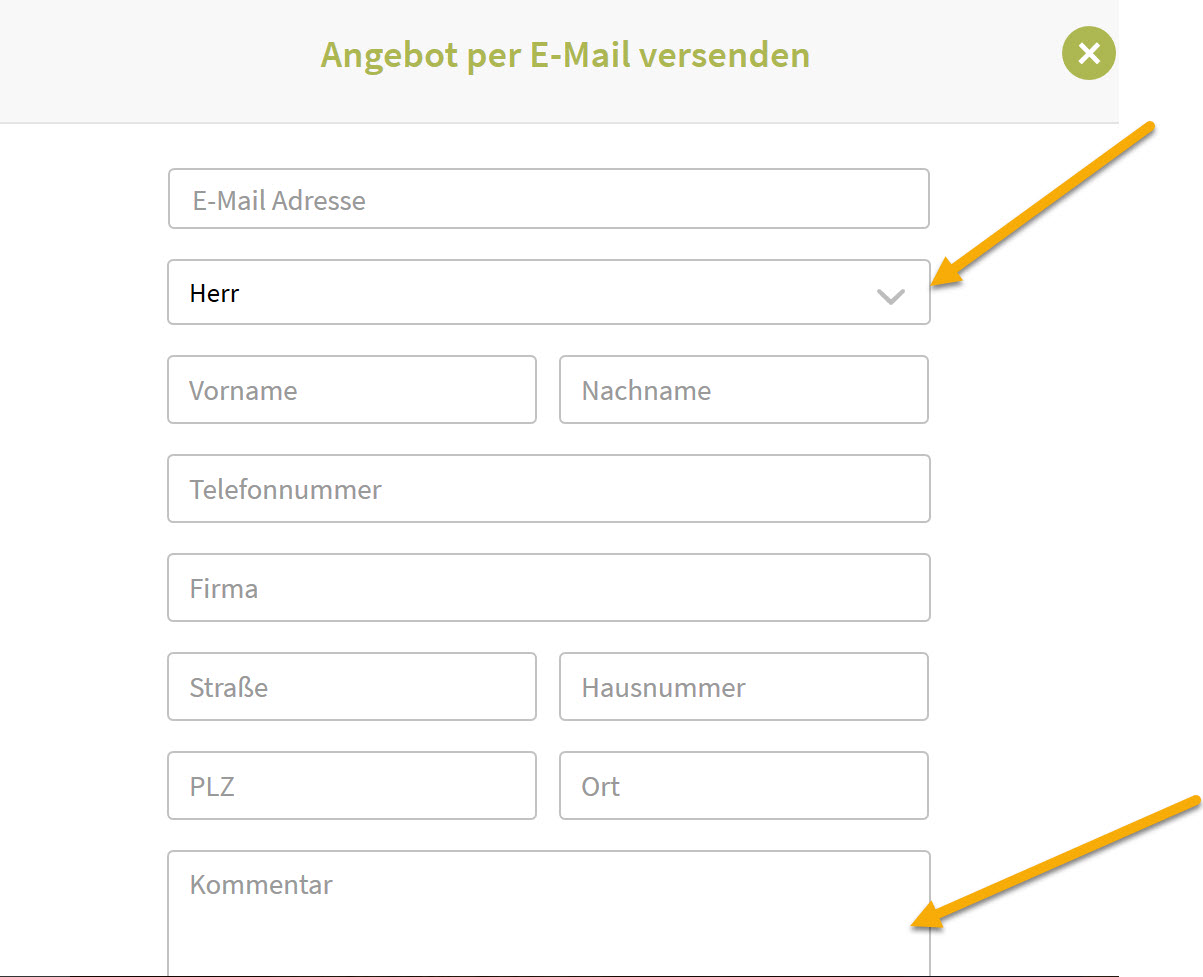 Angebots E Mail Konfigurieren Expedia Meetingmarket